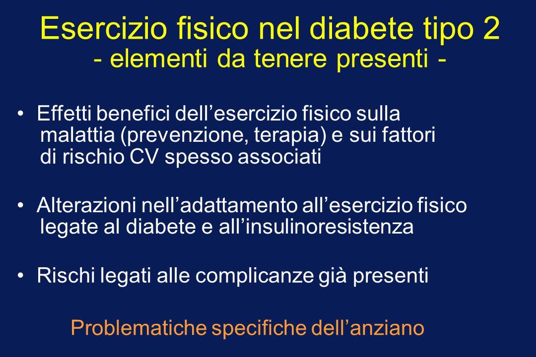 Esercizio fisico nel diabete tipo 2