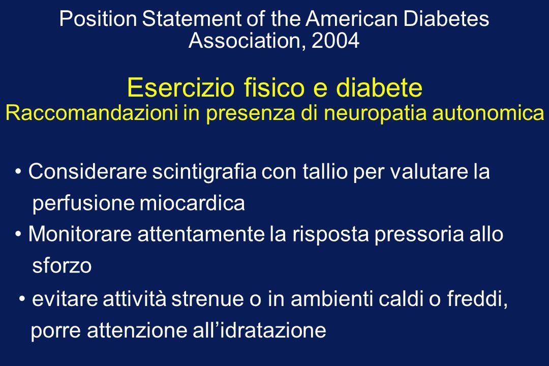 Esercizio fisico e diabete