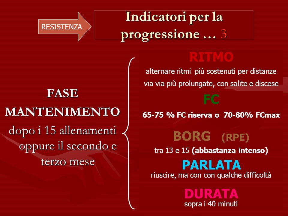 Indicatori per la progressione … 3