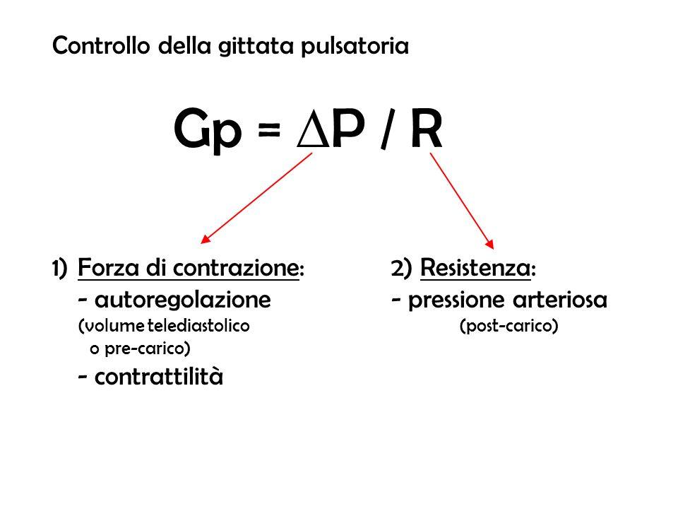 Controllo della gittata pulsatoria Gp = DP / R
