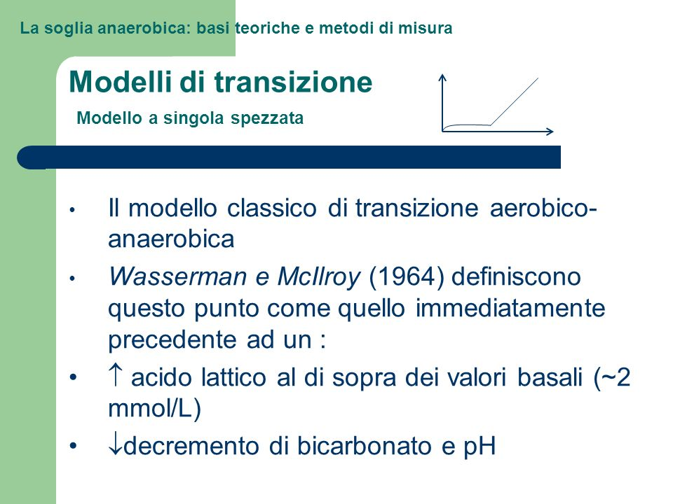 Modelli di transizione Modello a singola spezzata