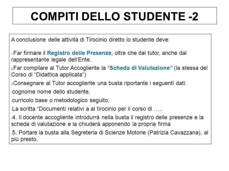 COMPITI DELLO STUDENTE -2