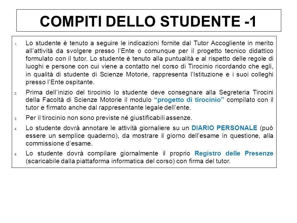 COMPITI DELLO STUDENTE -1