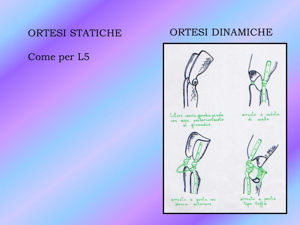ORTESI STATICHE Come per L5 ORTESI DINAMICHE