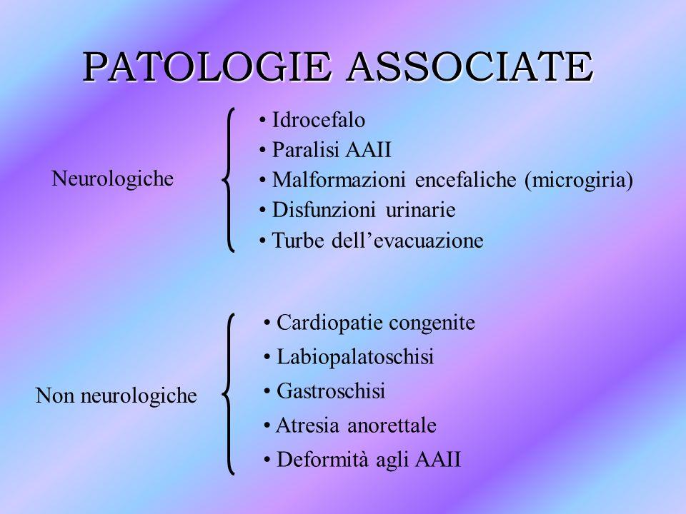 PATOLOGIE ASSOCIATE Idrocefalo Paralisi AAII