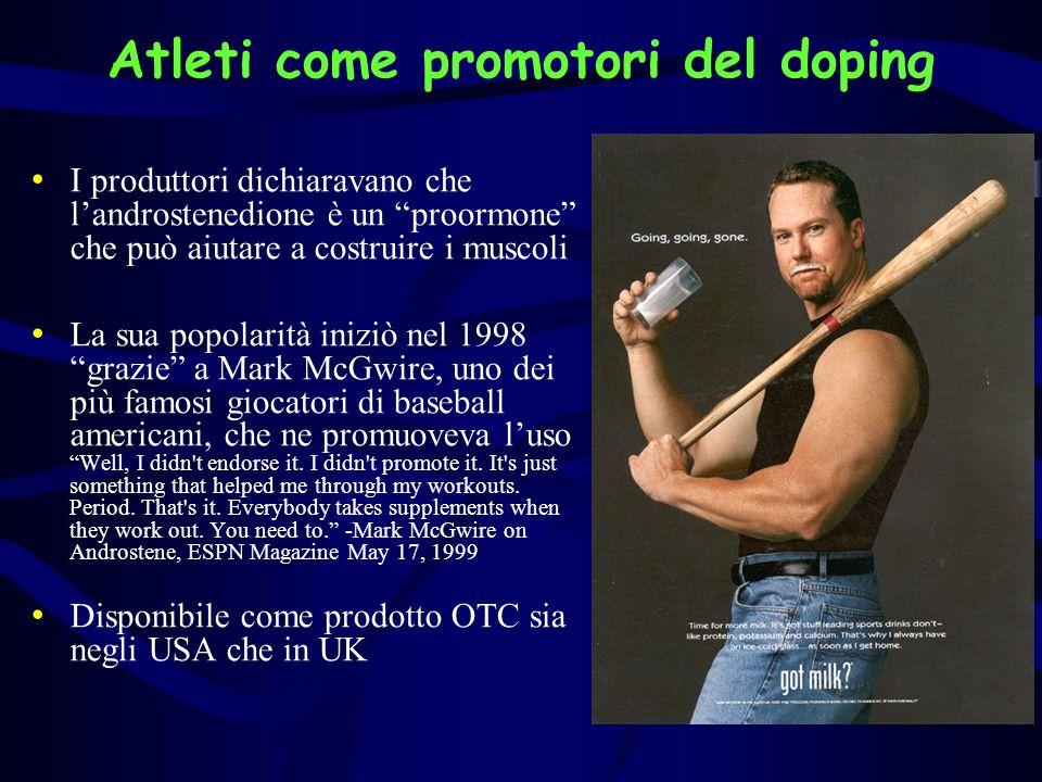 Atleti come promotori del doping