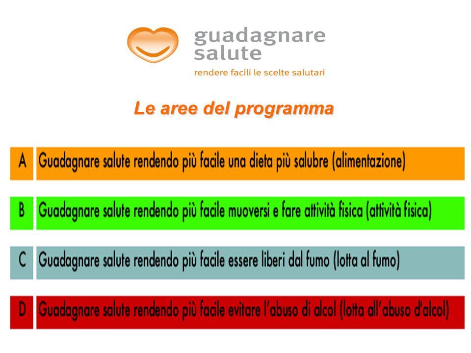 Le aree del programma