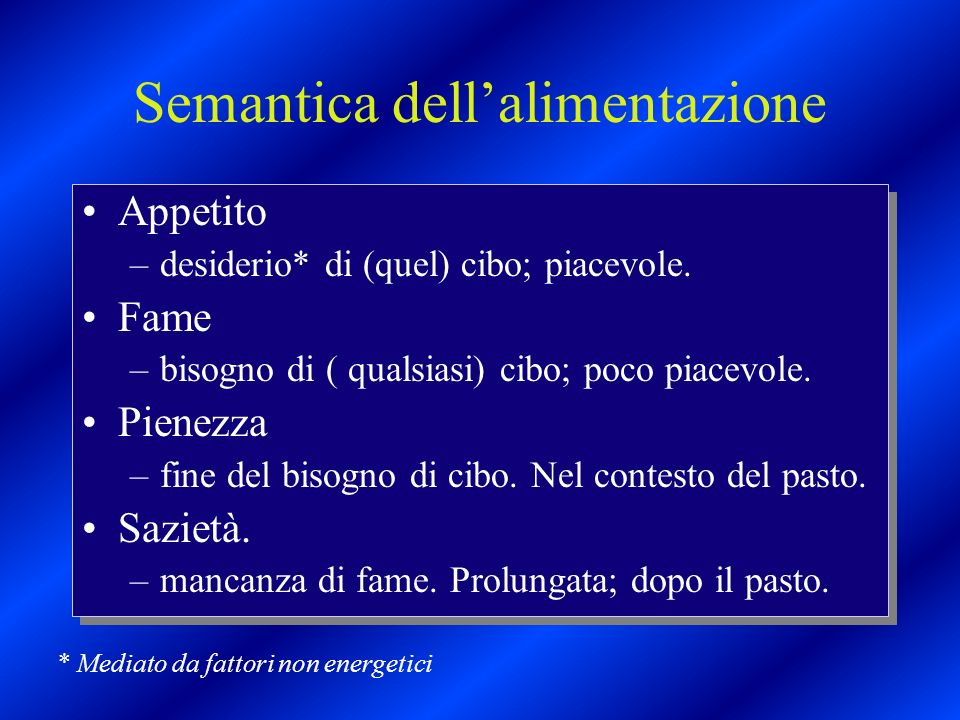 Semantica dell'alimentazione