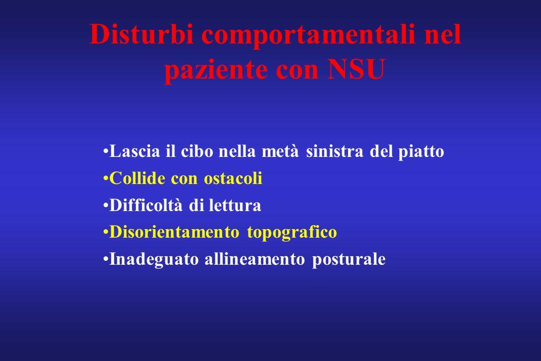 Disturbi comportamentali nel paziente con NSU