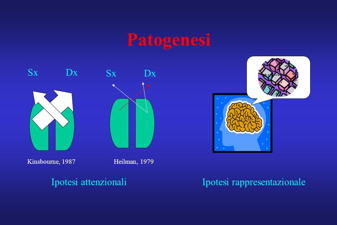 Patogenesi Sx Dx Sx Dx Ipotesi attenzionali Ipotesi rappresentazionale
