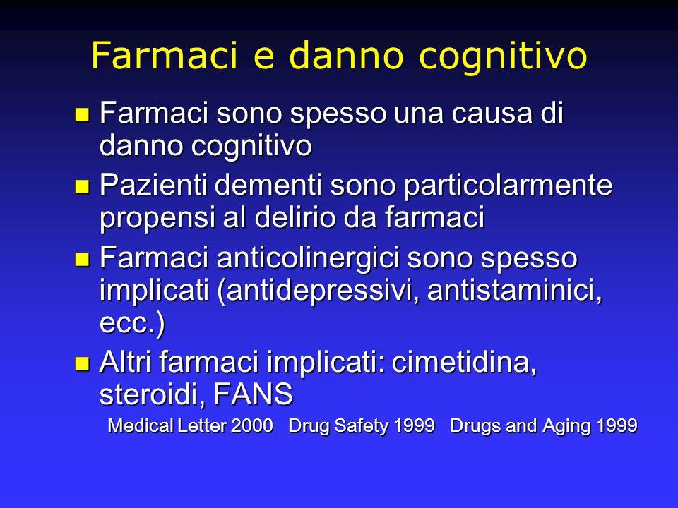 Farmaci e danno cognitivo