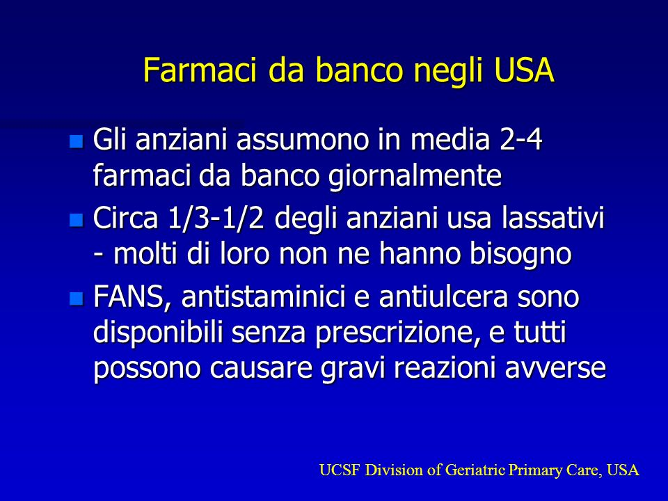 Farmaci da banco negli USA