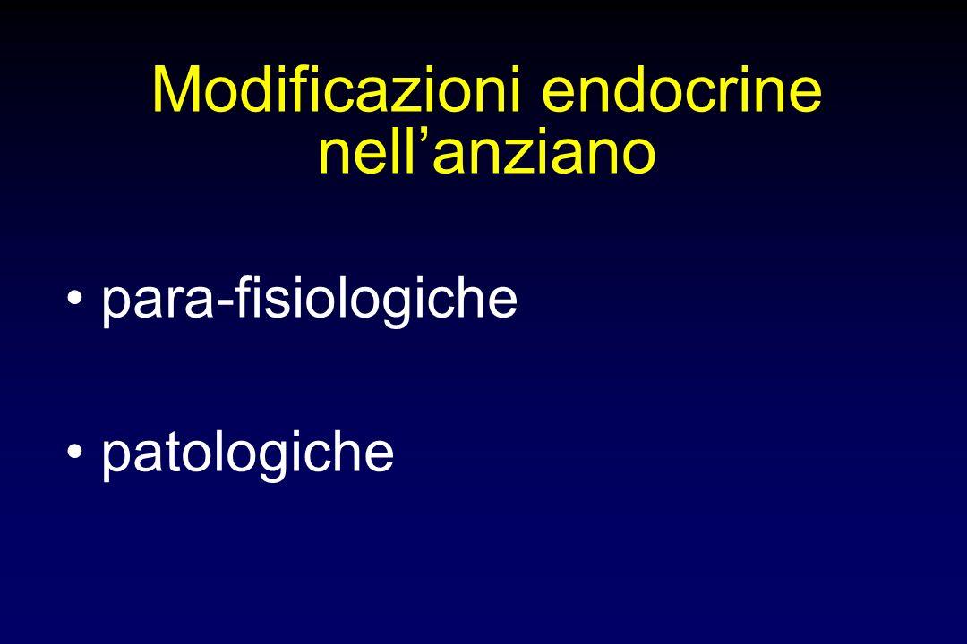 Modificazioni endocrine nell'anziano