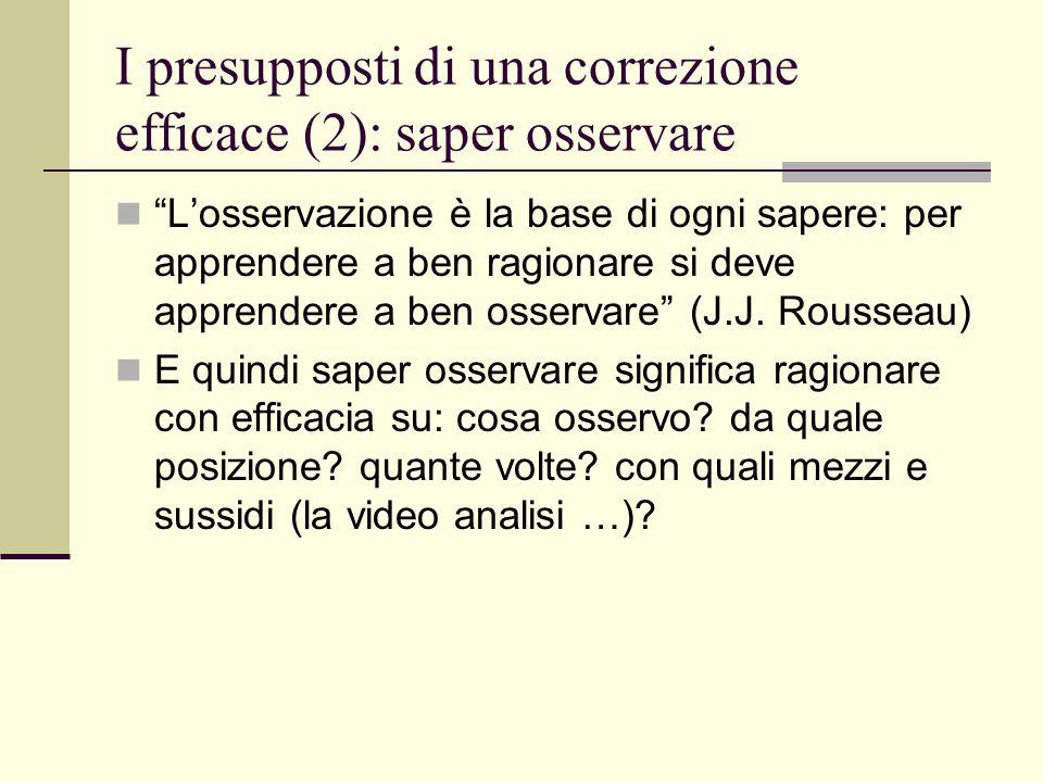 I presupposti di una correzione efficace (2): saper osservare