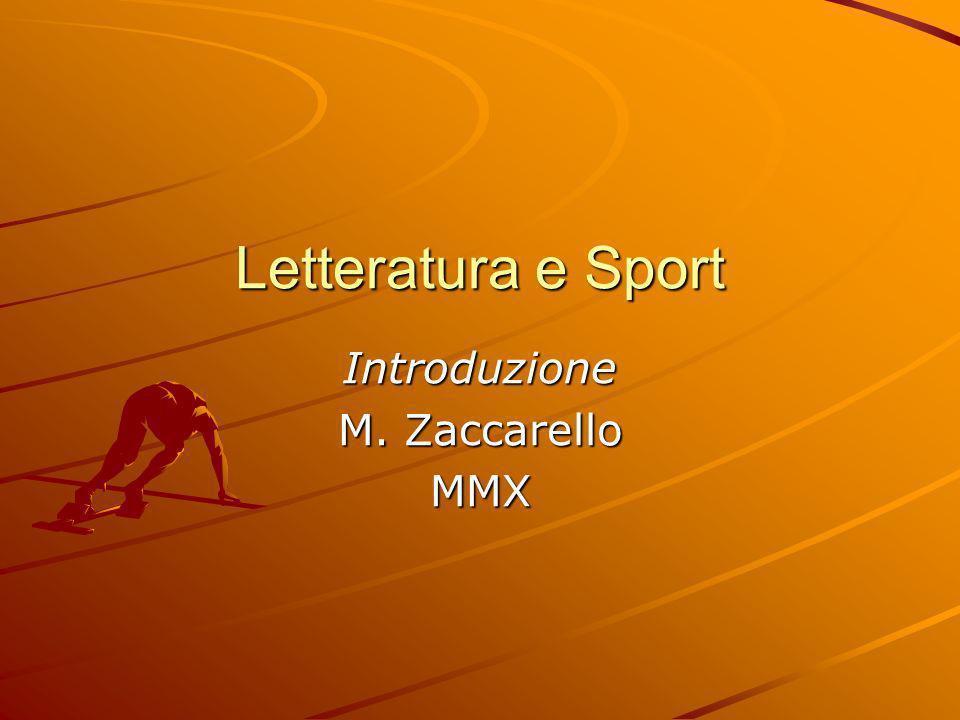 Introduzione M. Zaccarello MMX