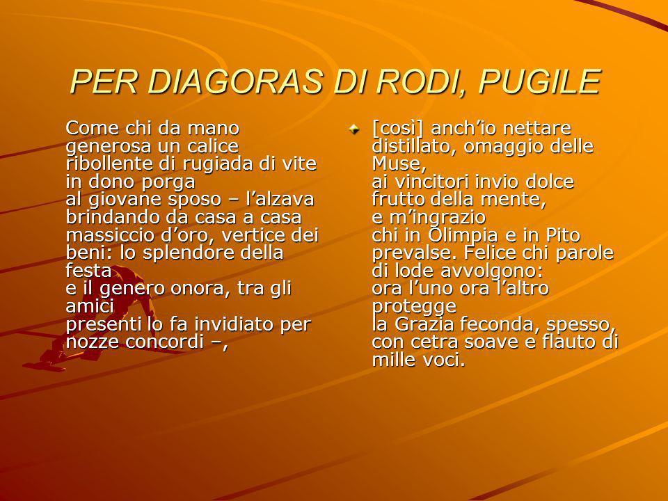 PER DIAGORAS DI RODI, PUGILE