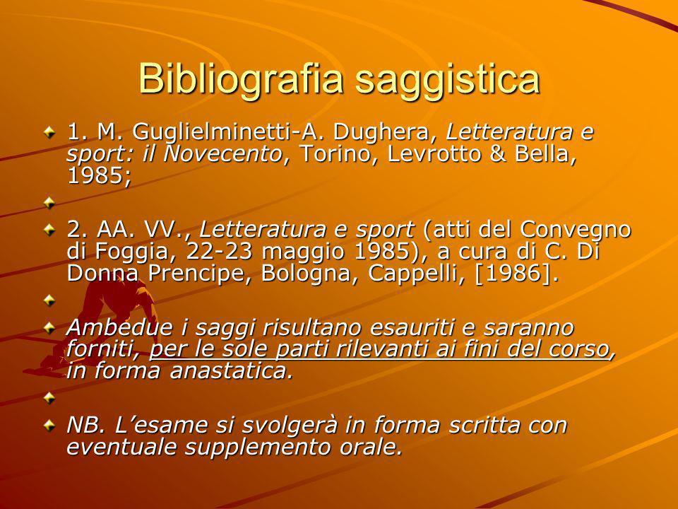 Bibliografia saggistica