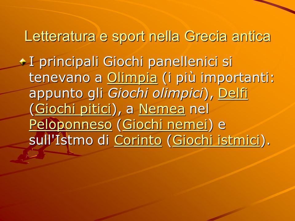 Letteratura e sport nella Grecia antica