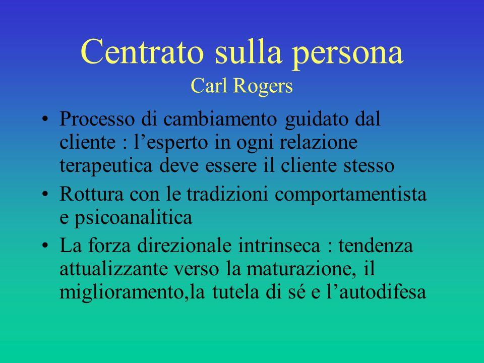 Centrato sulla persona Carl Rogers