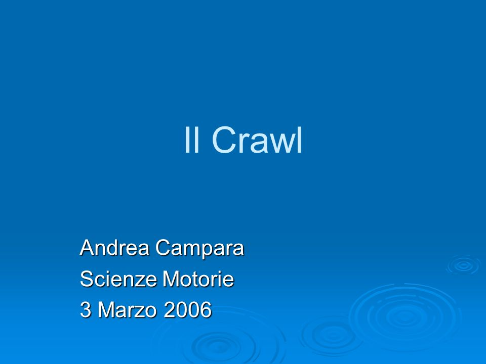 Andrea Campara Scienze Motorie 3 Marzo 2006