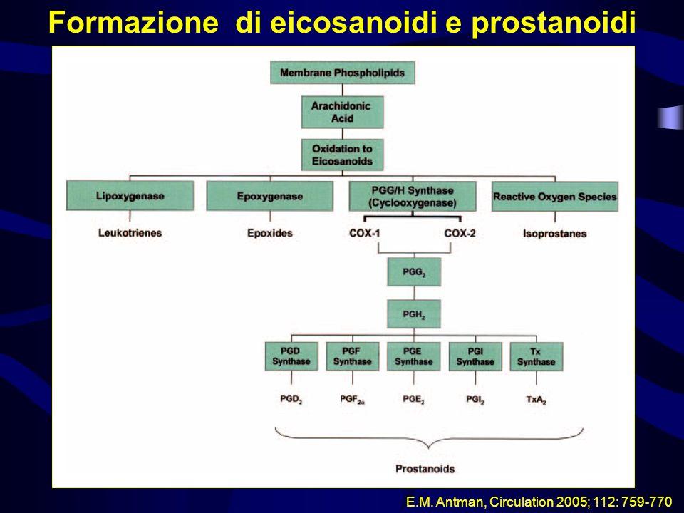Formazione di eicosanoidi e prostanoidi