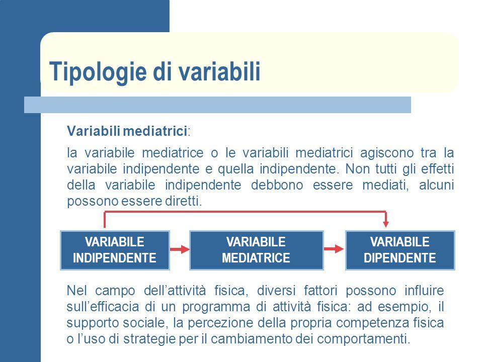 Tipologie di variabili