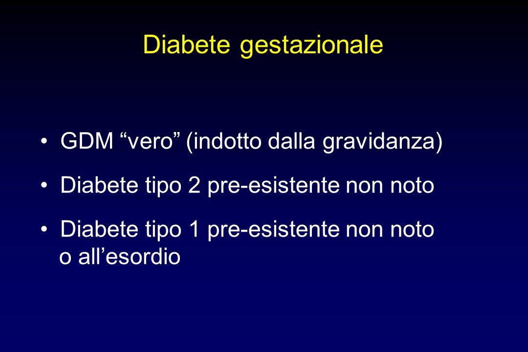 Diabete gestazionale • GDM vero (indotto dalla gravidanza)