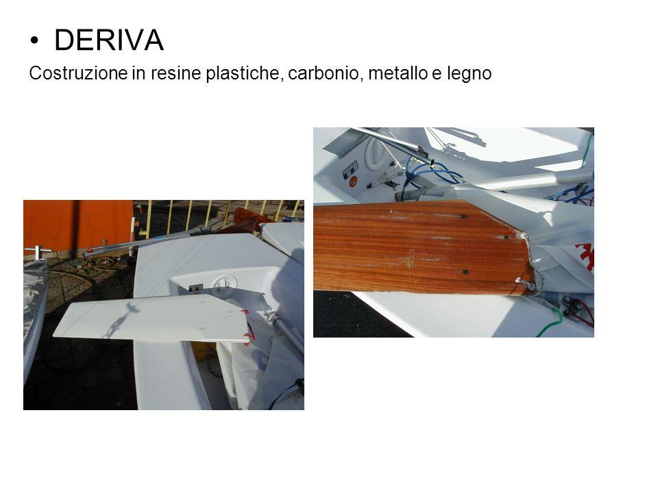 DERIVA Costruzione in resine plastiche, carbonio, metallo e legno