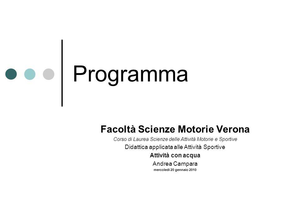 Facoltà Scienze Motorie Verona
