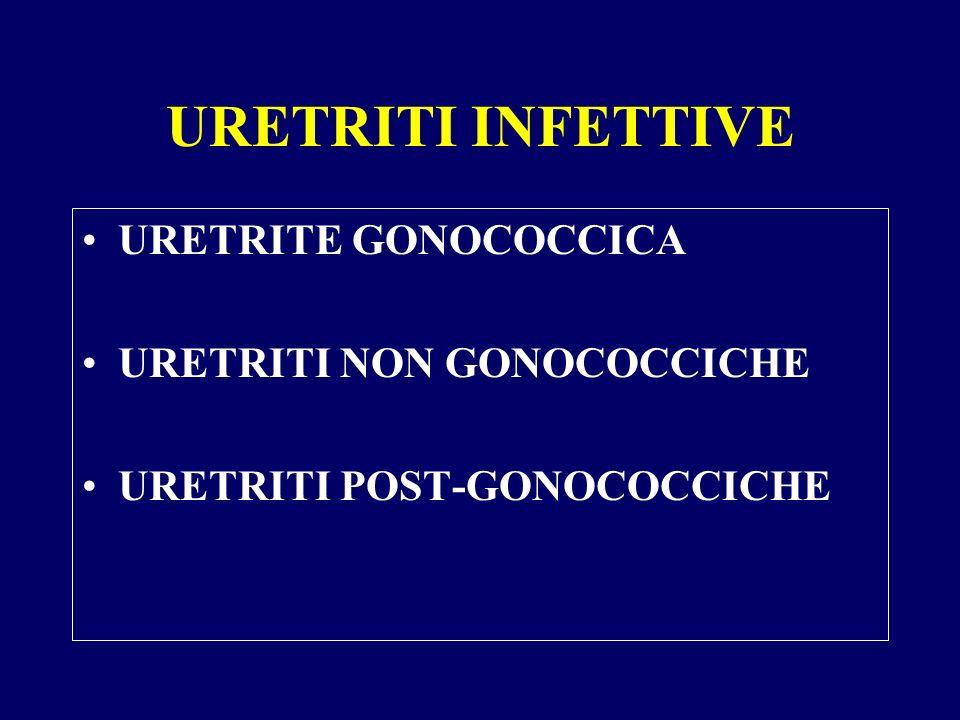 URETRITI INFETTIVE URETRITE GONOCOCCICA URETRITI NON GONOCOCCICHE