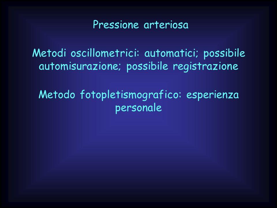 Metodo fotopletismografico: esperienza personale