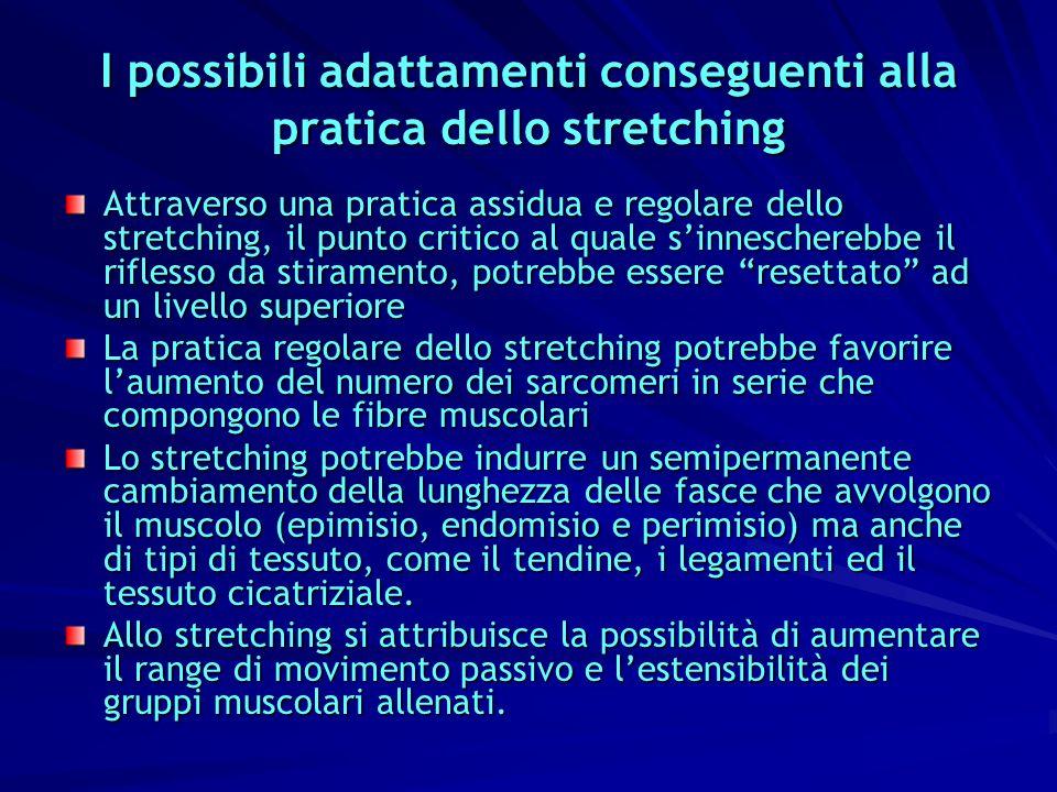 I possibili adattamenti conseguenti alla pratica dello stretching