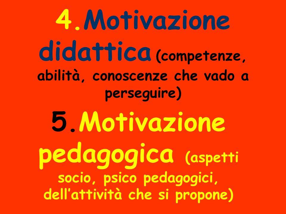 4.Motivazione didattica (competenze, abilità, conoscenze che vado a perseguire)