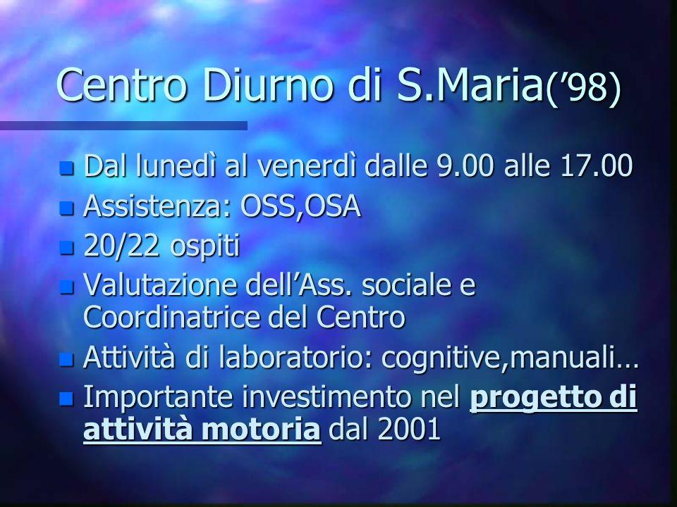 Centro Diurno di S.Maria('98)