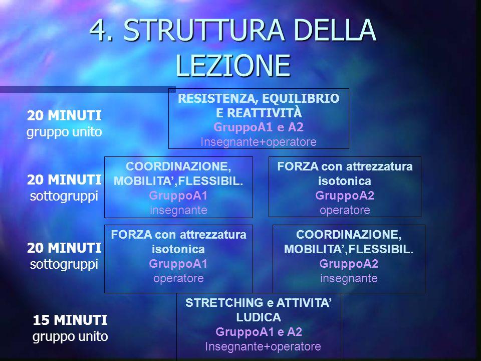 4. STRUTTURA DELLA LEZIONE