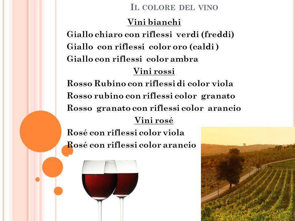 Il colore del vino Vini bianchi