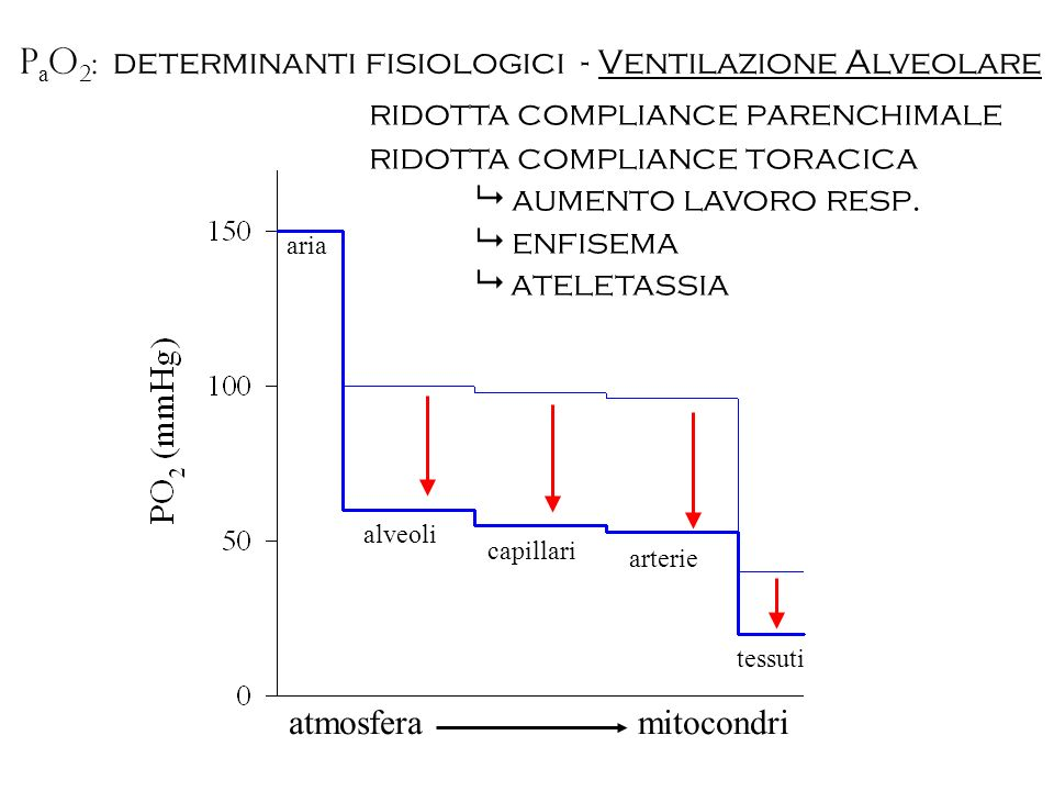 ridotta compliance parenchimale