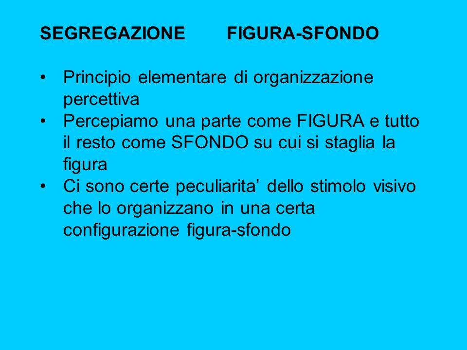 SEGREGAZIONE FIGURA-SFONDO