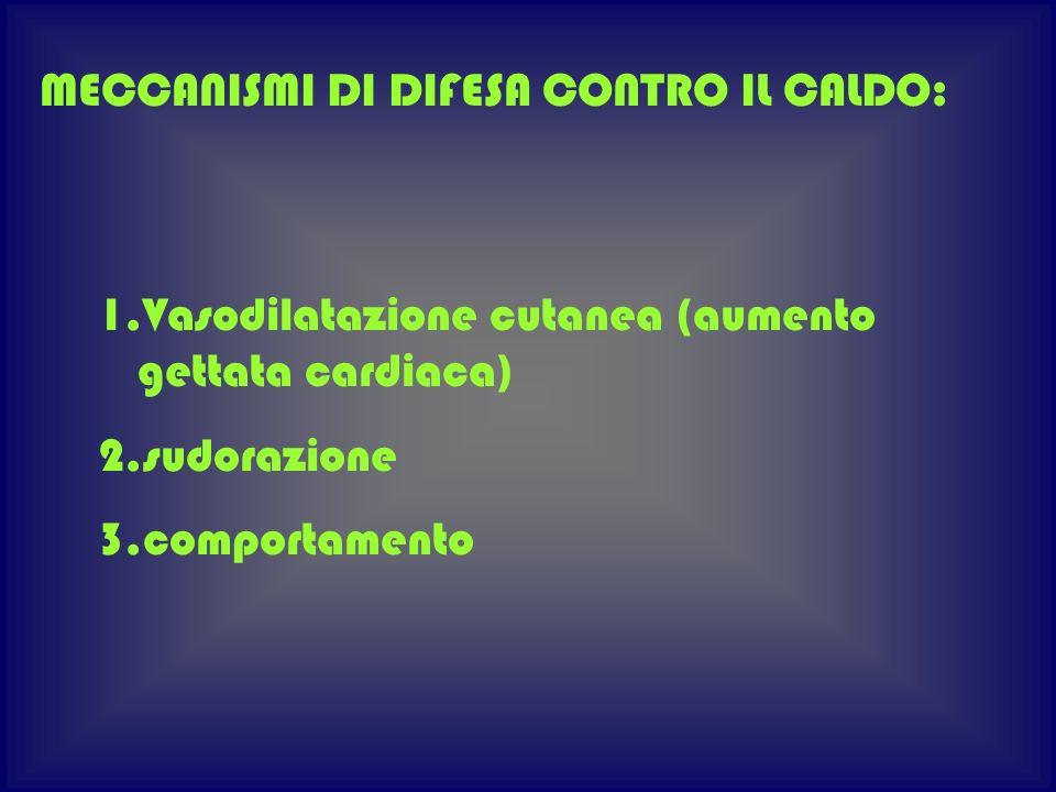 MECCANISMI DI DIFESA CONTRO IL CALDO: