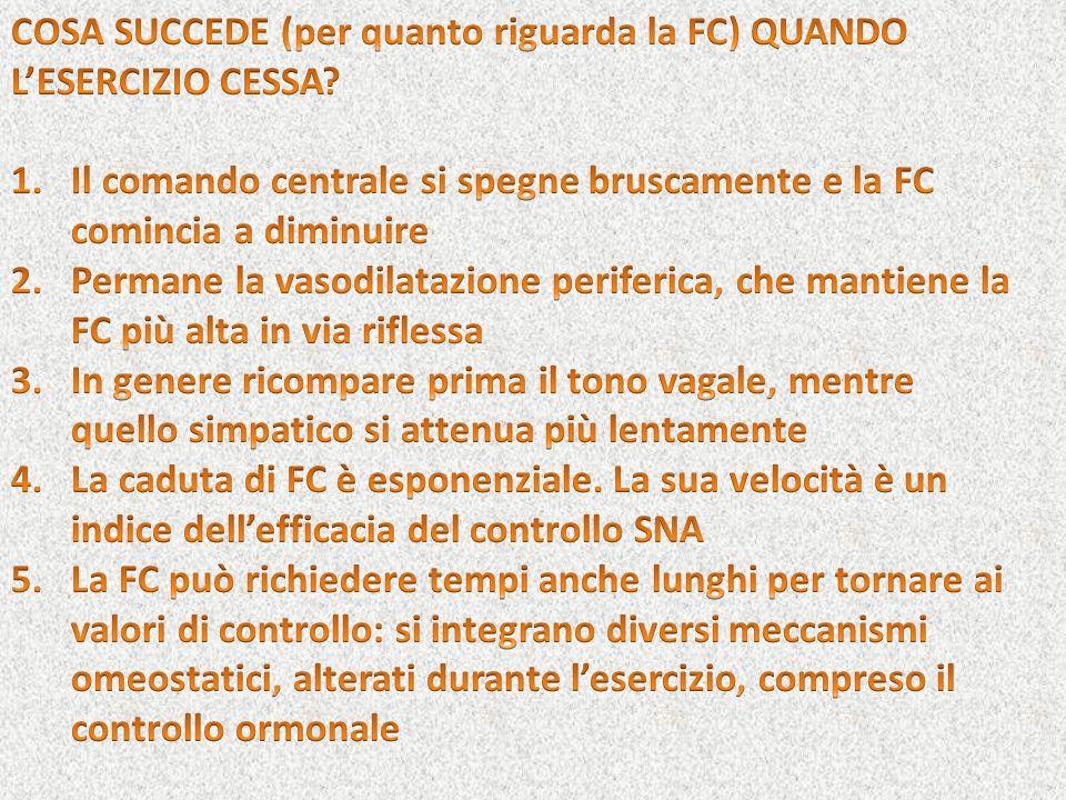 COSA SUCCEDE (per quanto riguarda la FC) QUANDO L'ESERCIZIO CESSA