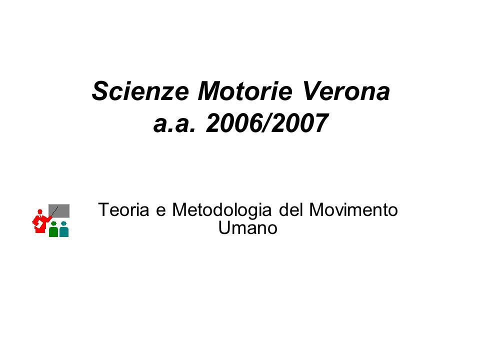 Scienze Motorie Verona a.a. 2006/2007