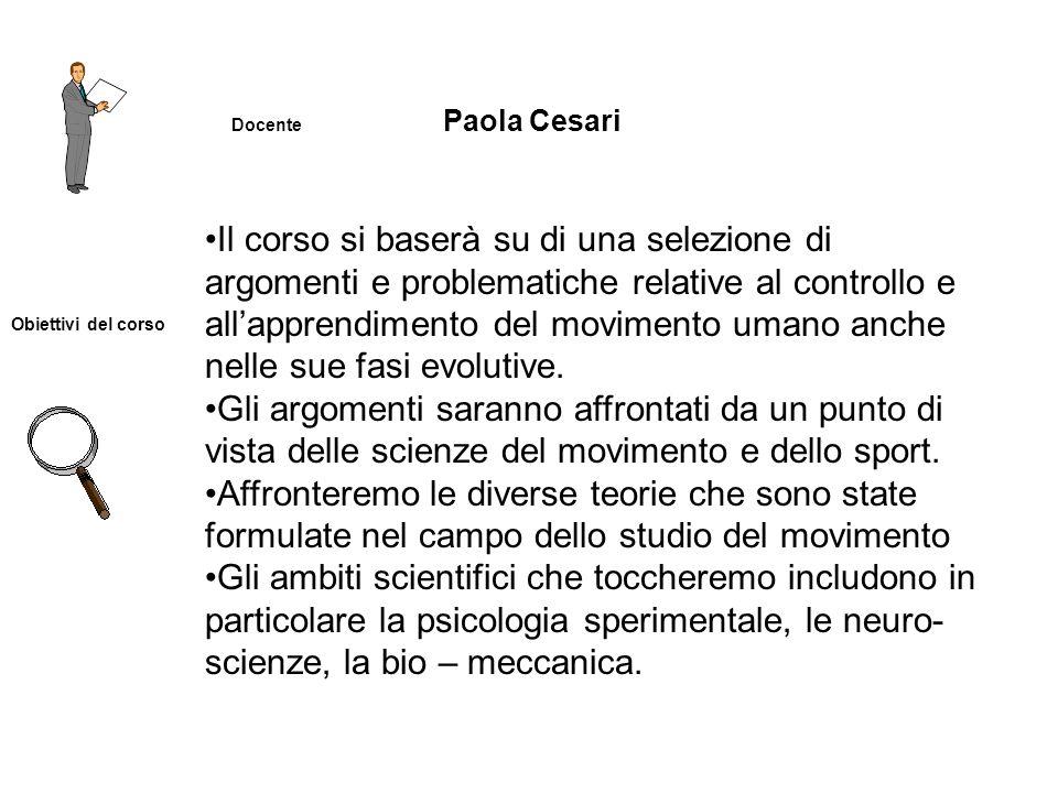 Docente Paola Cesari