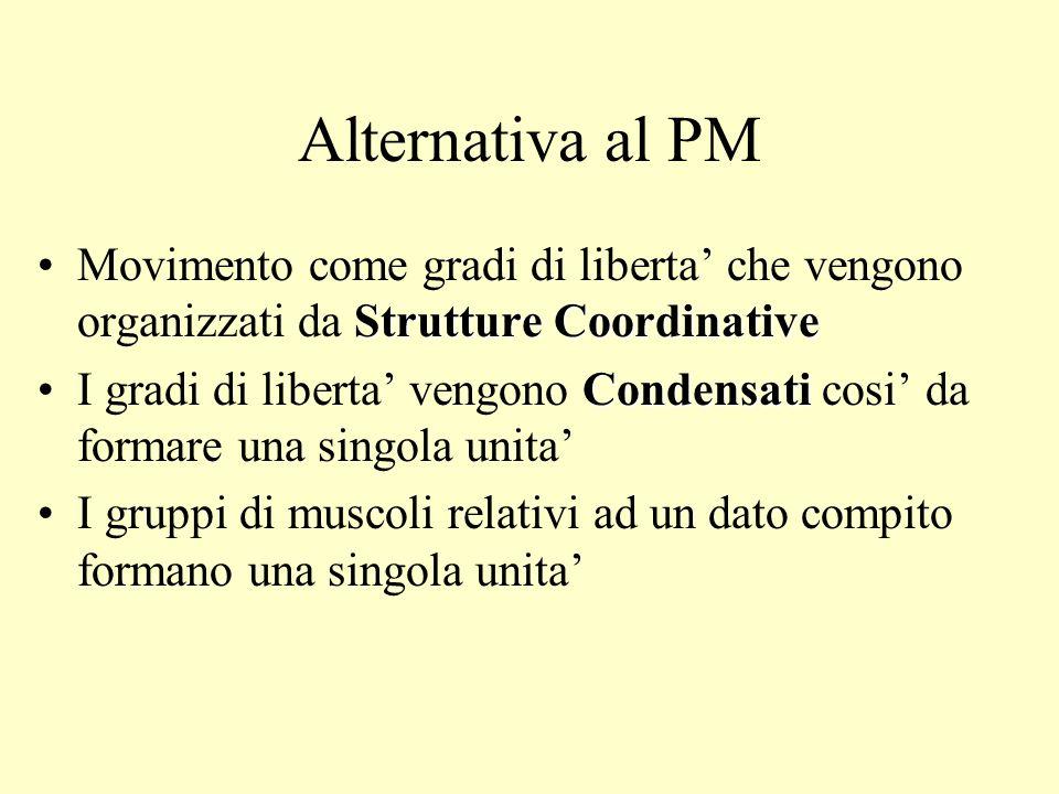 Alternativa al PMMovimento come gradi di liberta' che vengono organizzati da Strutture Coordinative.