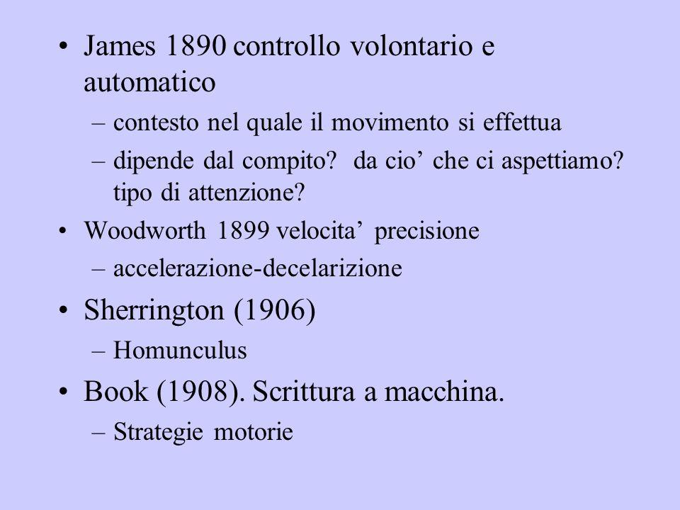 James 1890 controllo volontario e automatico