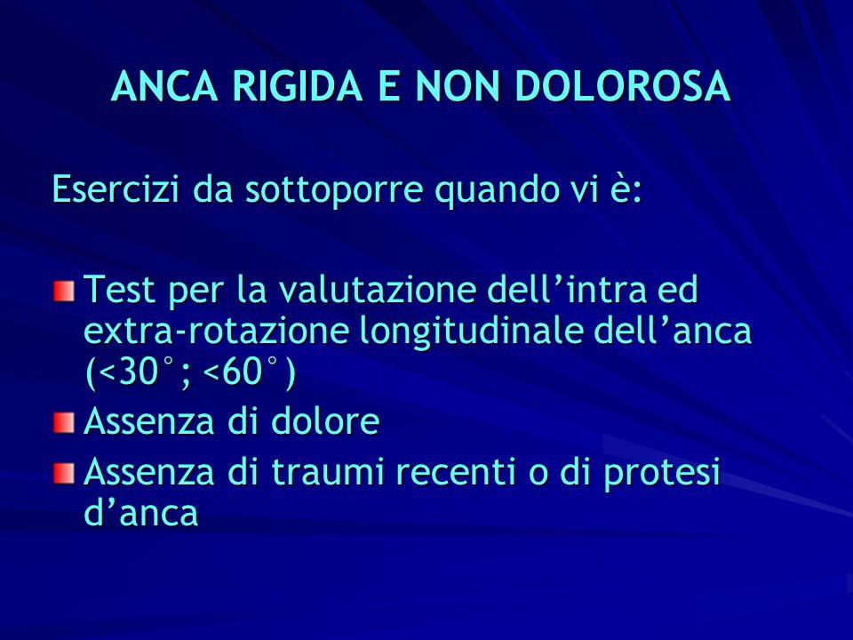 ANCA RIGIDA E NON DOLOROSA