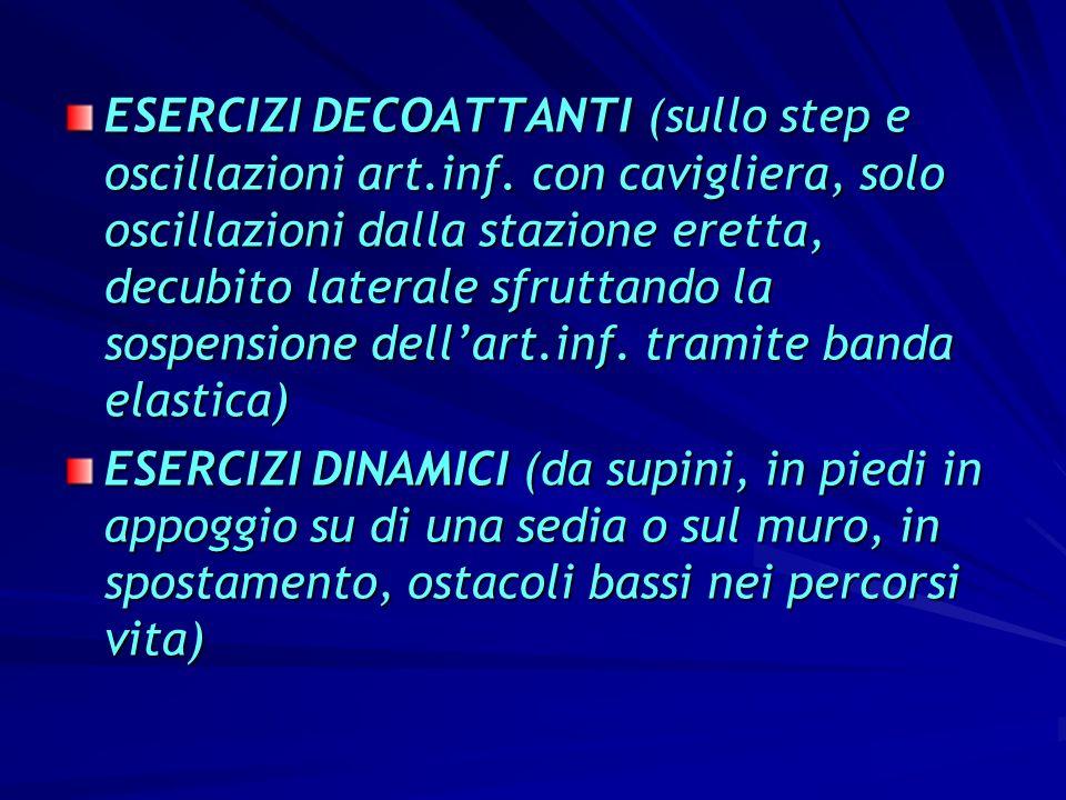 ESERCIZI DECOATTANTI (sullo step e oscillazioni art. inf