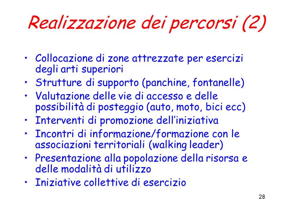 Realizzazione dei percorsi (2)