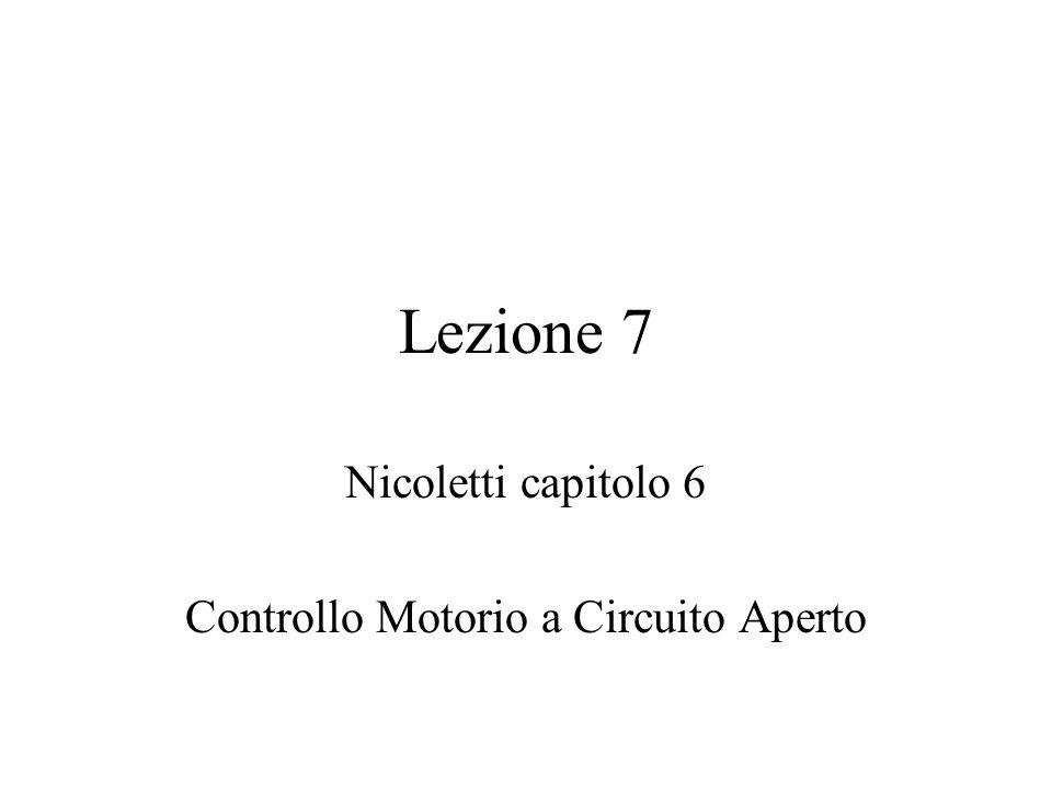 Nicoletti capitolo 6 Controllo Motorio a Circuito Aperto