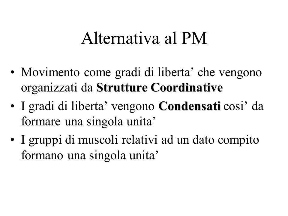Alternativa al PM Movimento come gradi di liberta' che vengono organizzati da Strutture Coordinative.