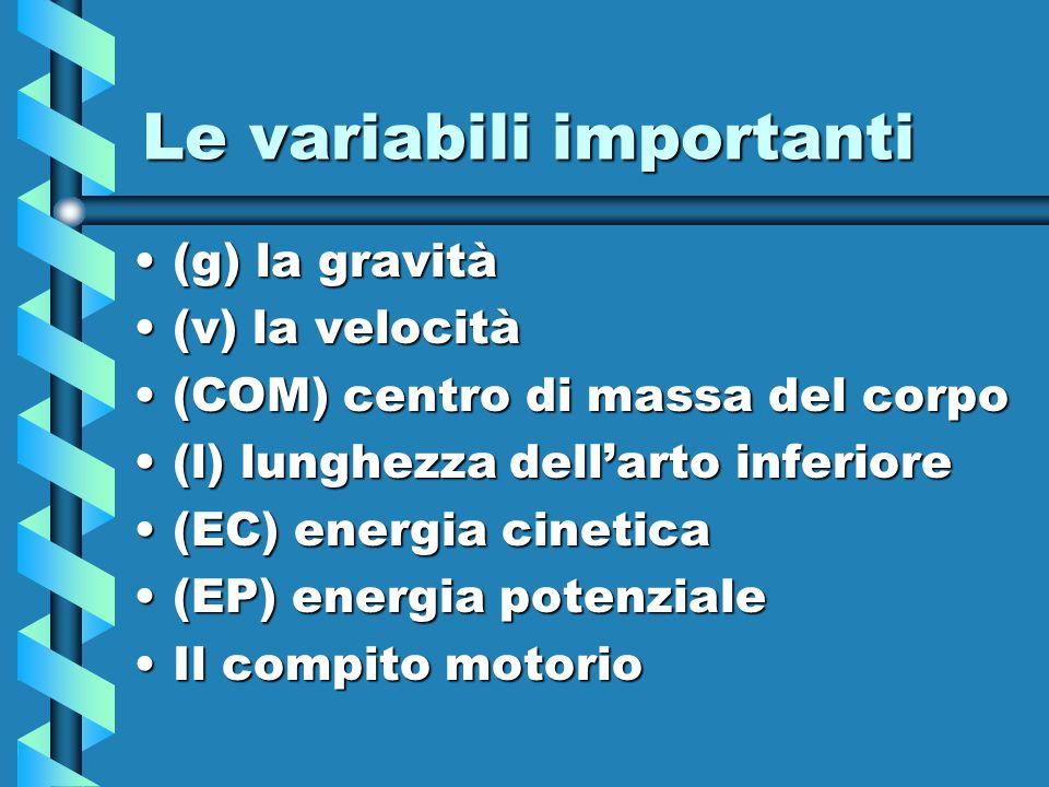 Le variabili importanti